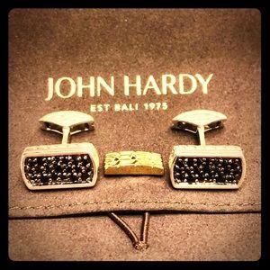 John Hardy Sapphire Sterling Cufflinks